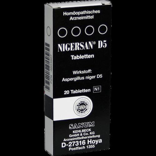 Verpackungsbild(Packshot) von NIGERSAN D 5 Tabletten