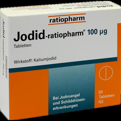 Verpackungsbild(Packshot) von JODID-ratiopharm 100 μg Tabletten