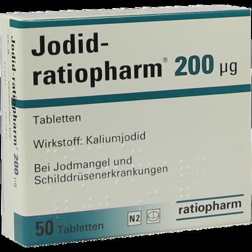 Verpackungsbild(Packshot) von JODID-ratiopharm 200 μg Tabletten