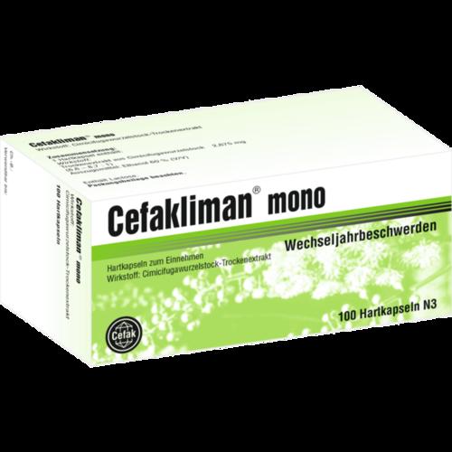Verpackungsbild(Packshot) von CEFAKLIMAN mono Hartkapseln