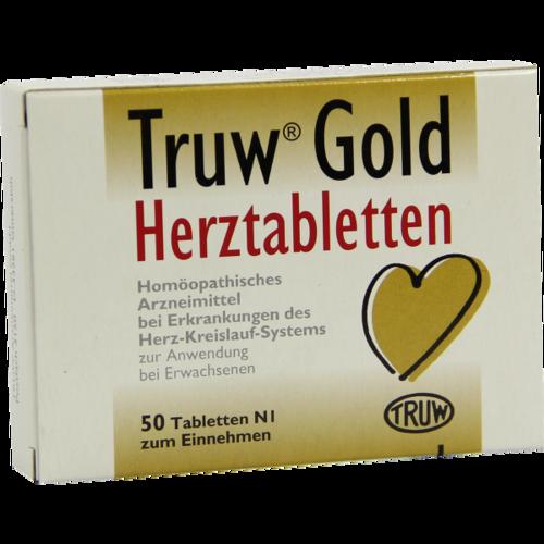 Verpackungsbild(Packshot) von TRUW GOLD Herztabletten