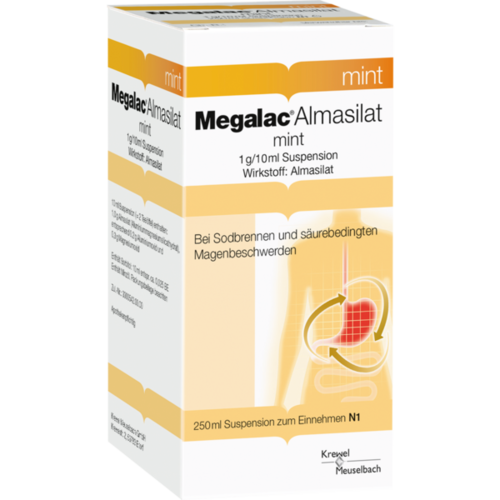 Verpackungsbild(Packshot) von MEGALAC Almasilat mint Suspension