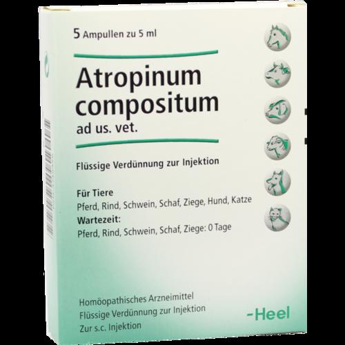 Verpackungsbild(Packshot) von ATROPINUM COMPOSITUM ad us.vet.Ampullen