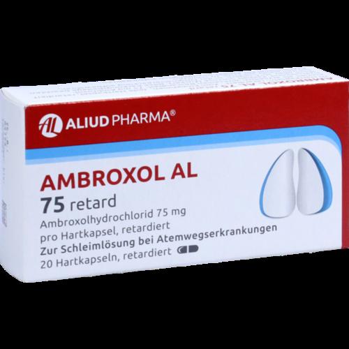 Verpackungsbild(Packshot) von AMBROXOL AL 75 retard Retardkapseln