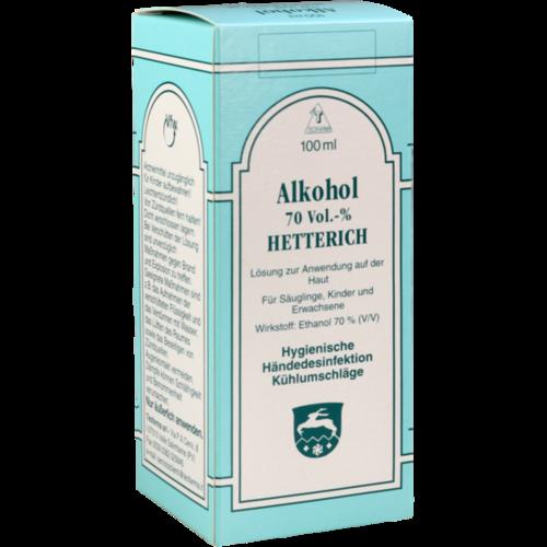 Verpackungsbild(Packshot) von ALKOHOL 70% V/V Hetterich