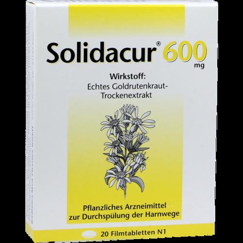 Verpackungsbild(Packshot) von SOLIDACUR 600 mg Filmtabletten