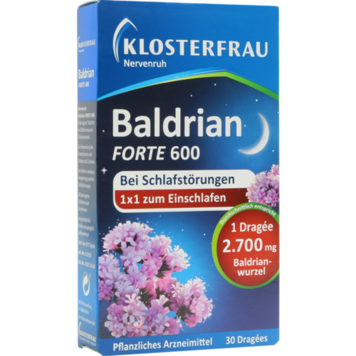 Verpackungsbild(Packshot) von KLOSTERFRAU Baldr.forte 600 Nervenruh üb.Tabl.
