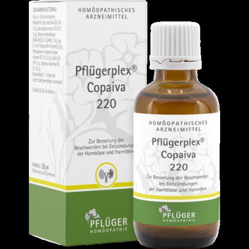 Verpackungsbild(Packshot) von PFLÜGERPLEX Copaiva 220 Tropfen