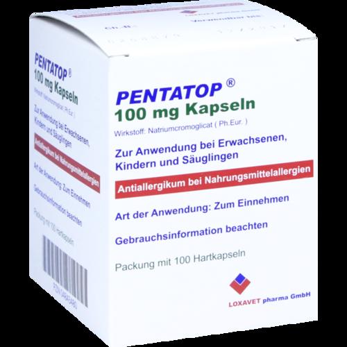 Verpackungsbild(Packshot) von PENTATOP 100 mg Kapseln Hartkapseln