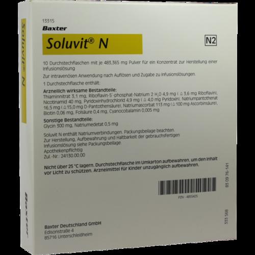 Verpackungsbild(Packshot) von SOLUVIT N Plv.f.e.Konz.z.Her.e.Infusionslösung