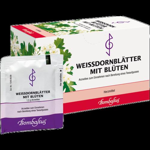 Verpackungsbild(Packshot) von WEISSDORNBLÄTTER m.Blüten Filterbeutel
