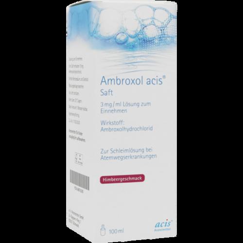 Verpackungsbild(Packshot) von AMBROXOL acis Saft