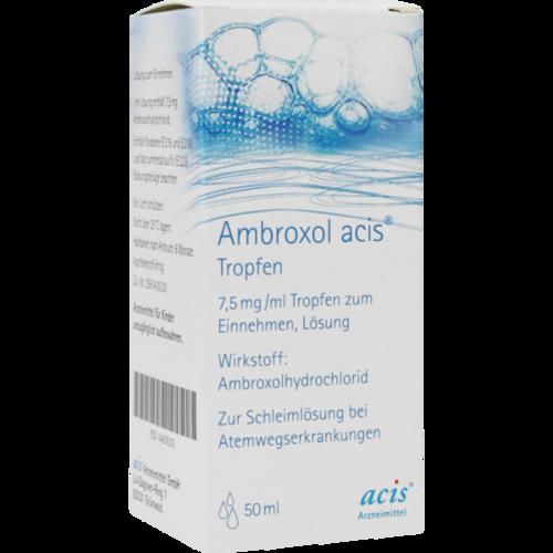 Verpackungsbild(Packshot) von AMBROXOL acis Tropfen