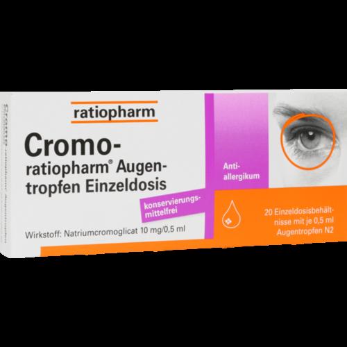 Verpackungsbild(Packshot) von CROMO-RATIOPHARM Augentropfen Einzeldosis