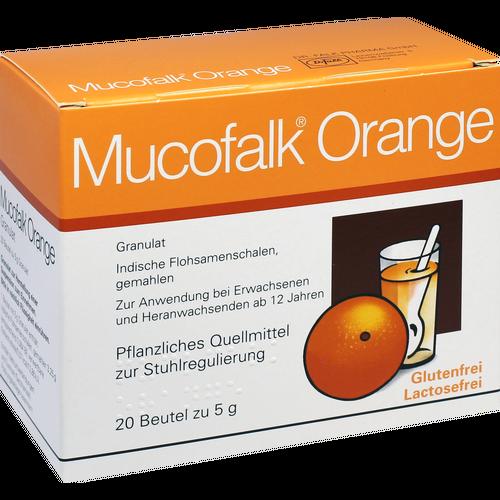 Verpackungsbild(Packshot) von MUCOFALK Orange Gran.z.Herst.e.Susp.z.Einn.Beutel