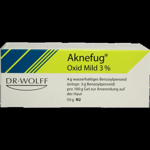 Verpackungsbild(Packshot) von AKNEFUG oxid mild 3% Gel