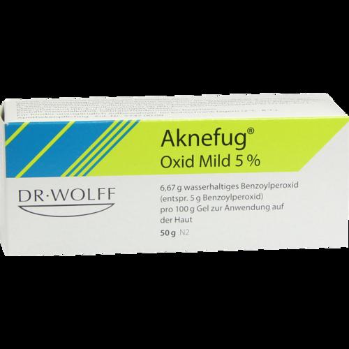 Verpackungsbild(Packshot) von AKNEFUG oxid mild 5% Gel