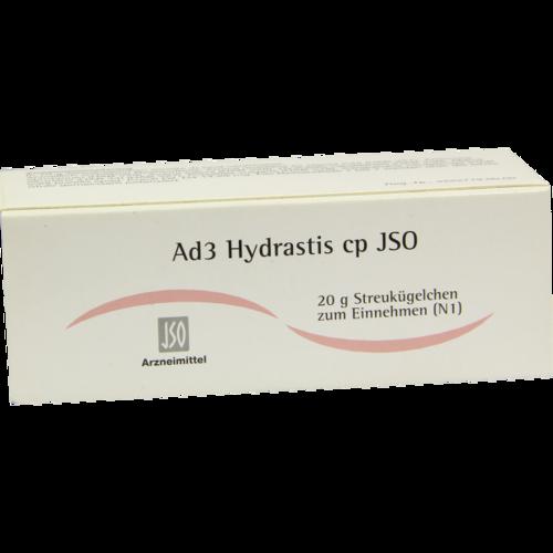 Verpackungsbild(Packshot) von JSO Ad 3 Hydrastis cp Globuli
