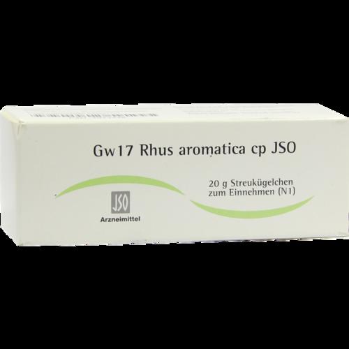 Verpackungsbild(Packshot) von JSO Gw 17 Rhus aromatica cp Globuli