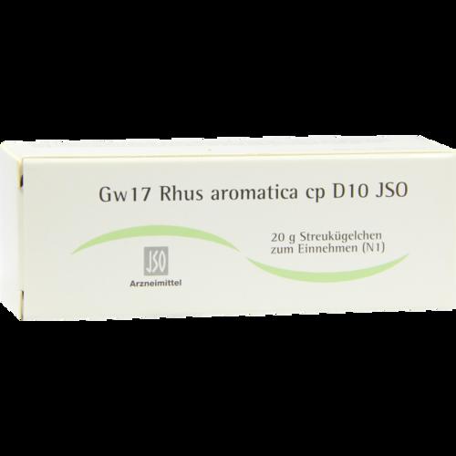 Verpackungsbild(Packshot) von JSO Gw 17 Rhus aromatica cp D 10 Globuli