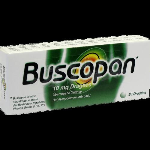 Verpackungsbild(Packshot) von BUSCOPAN Dragees