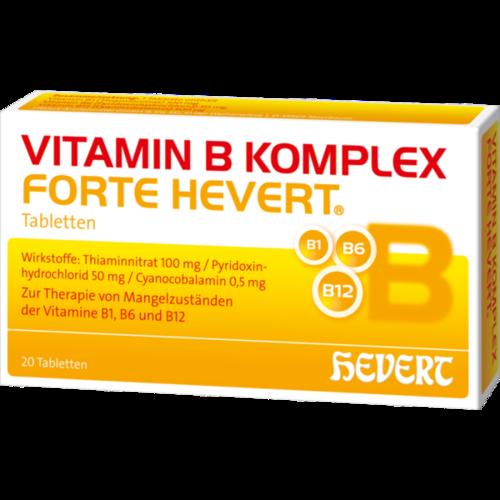 Verpackungsbild(Packshot) von VITAMIN B KOMPLEX forte Hevert Tabletten