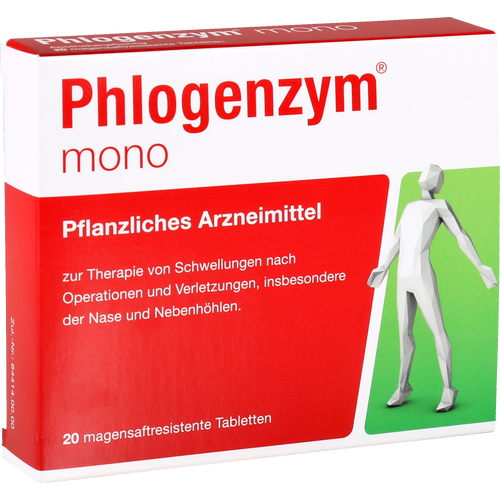 Verpackungsbild(Packshot) von PHLOGENZYM mono magensaftresistente Tabletten