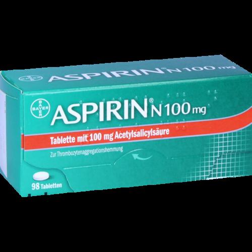 Verpackungsbild(Packshot) von ASPIRIN N 100 mg Tabletten