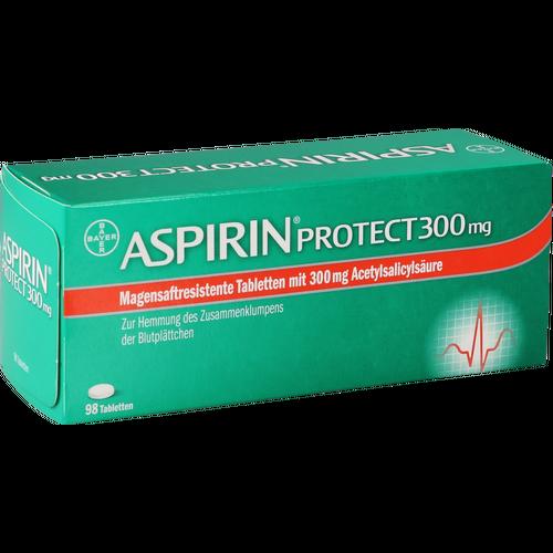 Verpackungsbild(Packshot) von ASPIRIN Protect 300 mg magensaftres.Tabletten