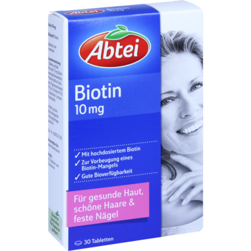 Verpackungsbild(Packshot) von ABTEI Biotin 10 mg Tabletten