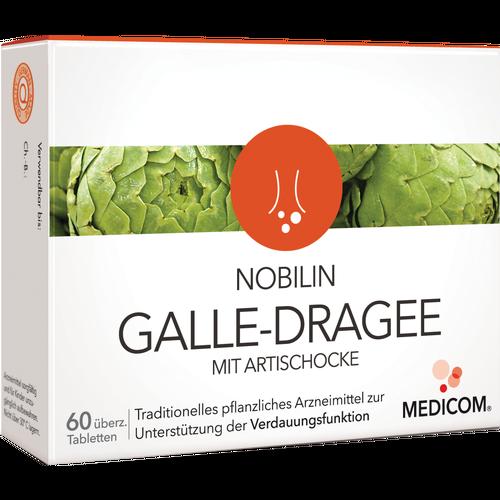 Verpackungsbild(Packshot) von NOBILIN Galle Dragee m.Artischocke