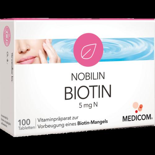 Verpackungsbild(Packshot) von NOBILIN Biotin 5 mg N Tabletten
