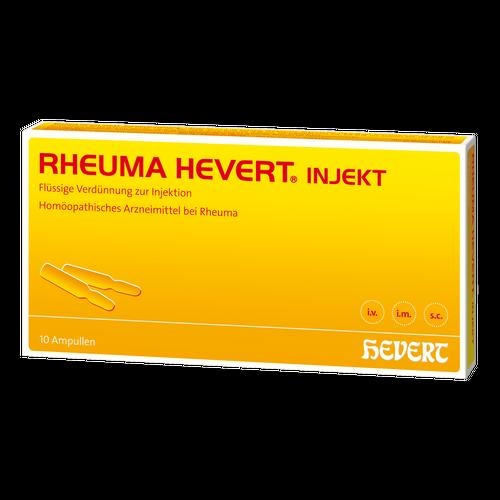 Verpackungsbild(Packshot) von RHEUMA HEVERT injekt Ampullen