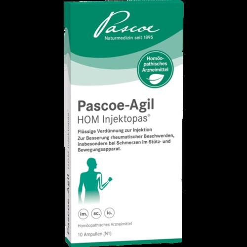 Verpackungsbild(Packshot) von PASCOE-Agil HOM Injektopas Ampullen