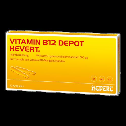 Verpackungsbild(Packshot) von VITAMIN B12 DEPOT Hevert Ampullen