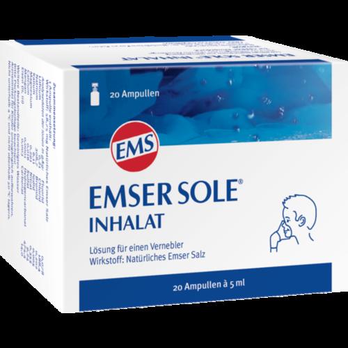 Verpackungsbild(Packshot) von EMSER Sole Inhalat Lösung f.e.Vernebler
