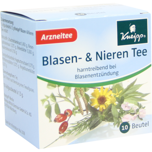 Verpackungsbild(Packshot) von KNEIPP Tee Blasen und Nieren Filterbeutel