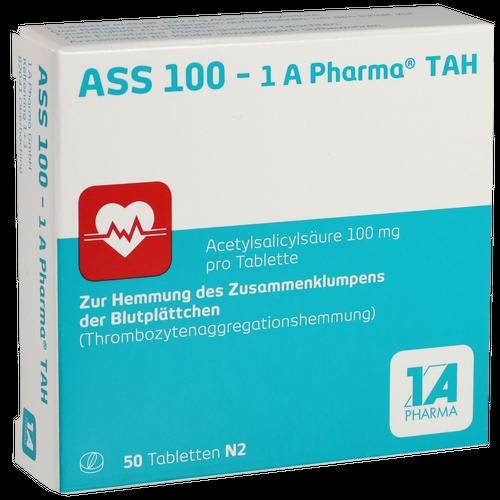 Verpackungsbild(Packshot) von ASS 100-1A Pharma TAH Tabletten