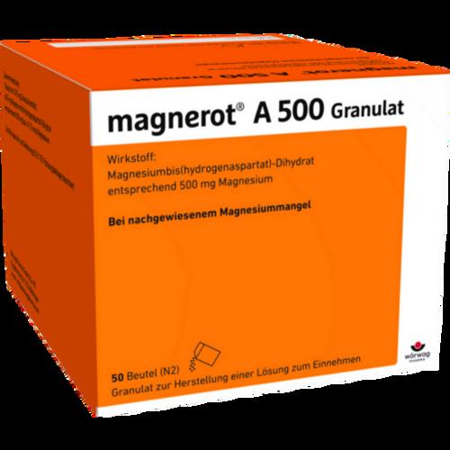 Verpackungsbild(Packshot) von MAGNEROT A 500 Beutel Granulat