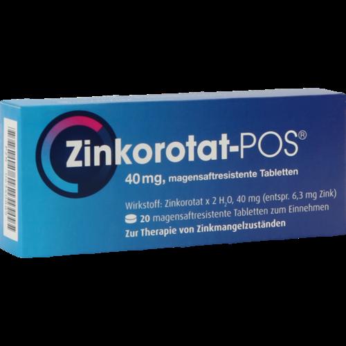 Verpackungsbild(Packshot) von ZINKOROTAT POS magensaftresistente Tabletten