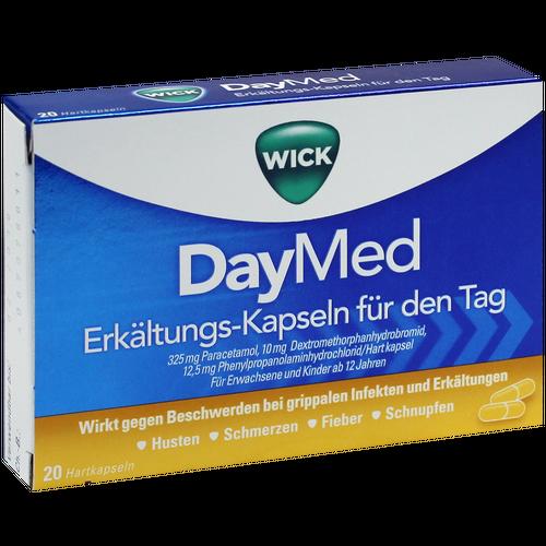 Verpackungsbild(Packshot) von WICK DayMed Erkältungskapseln