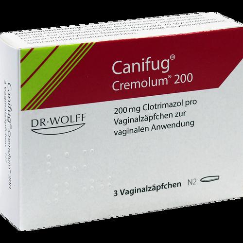 Verpackungsbild(Packshot) von CANIFUG Cremolum 200 Vaginalsuppositorien