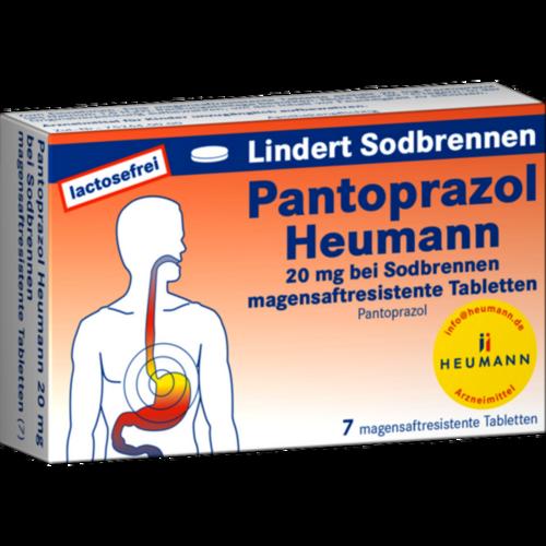 Verpackungsbild(Packshot) von PANTOPRAZOL Heumann 20 mg b.Sodbrennen msr.Tabl.