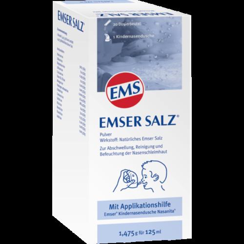 Verpackungsbild(Packshot) von EMSER Salz 1,475 g Komb.m.Nasanita Nasendu.Junior