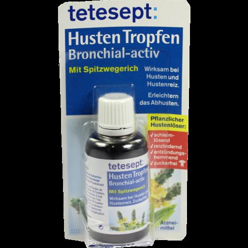 Verpackungsbild(Packshot) von TETESEPT Hustentropfen Bronchial-activ zuckerfrei