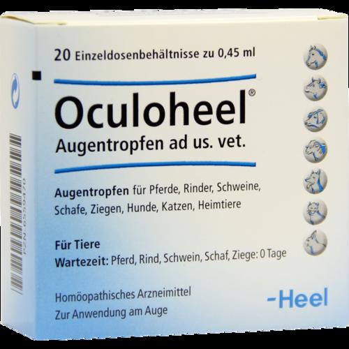 Verpackungsbild(Packshot) von OCULOHEEL Augentropfen ad us.vet.Einzeldosispipet.