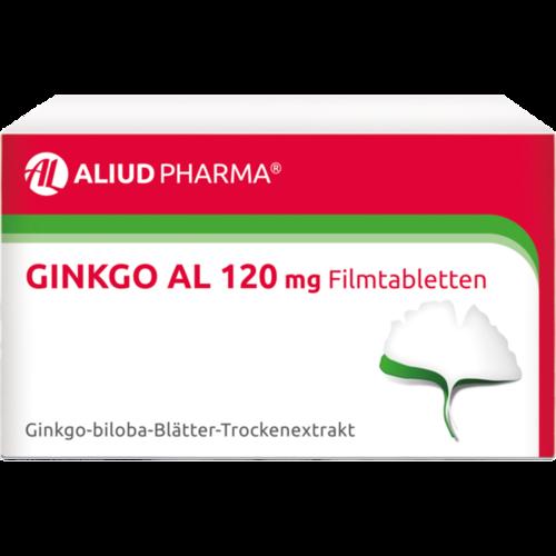 Verpackungsbild(Packshot) von GINKGO AL 120 mg Filmtabletten