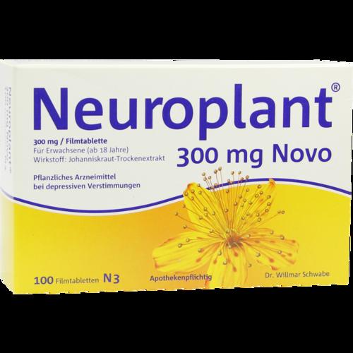 Verpackungsbild(Packshot) von NEUROPLANT 300 mg Novo Filmtabletten