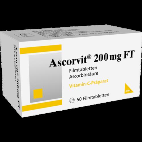 Verpackungsbild(Packshot) von ASCORVIT 200 mg FT Filmtabletten