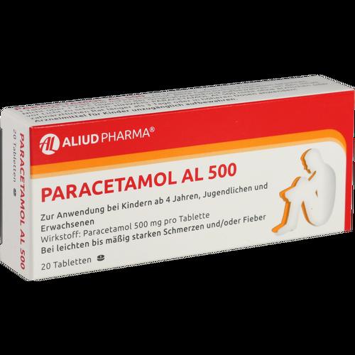 Verpackungsbild(Packshot) von PARACETAMOL AL 500 Tabletten
